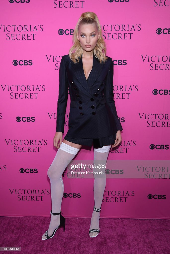 Victoria's Secret Angel Elsa Hosk attends as Victoria's Secret Angels gather for an intimate viewing party of the 2017 Victoria's Secret Fashion Show at Spring Studios on November 28, 2017 in New York City.