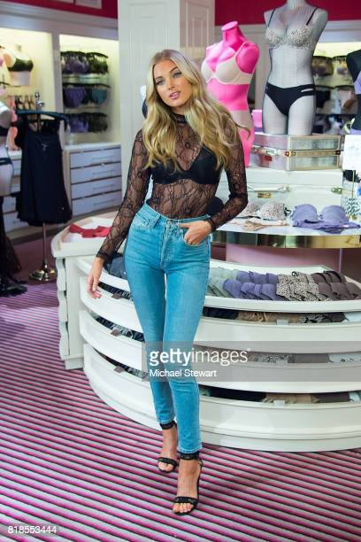 Victoria's Secret Angel Elsa Hosk celebrates the TShirt Bra Collection at Victoria's Secret Fifth Ave on July 18 2017 in New York City