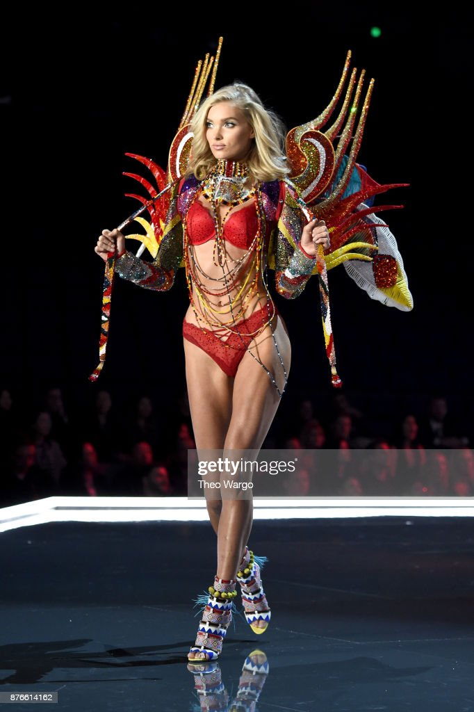 Victoria's Secret Angel Elsa Hosk walks the runway during the 2017 Victoria's Secret Fashion Show In Shanghai at Mercedes-Benz Arena on November 20, 2017 in Shanghai, China.