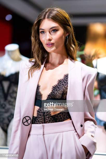Victoria's Secret Angel Grace Elizabeth debuts new fall collection at Victoria's Secret 5th Avenue Store on August 08 2019 in New York City