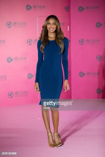 Victoria's Secret Angel Jasmine Tookes arrives at the red carpet of the MercedesBenz 'Backstage Secrets' By Russell James Book Launch Shanghai...