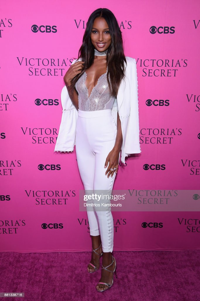 Victoria's Secret Angel Jasmine Tookes attends as Victoria's Secret Angels gather for an intimate viewing party of the 2017 Victoria's Secret Fashion Show at Spring Studios on November 28, 2017 in New York City.