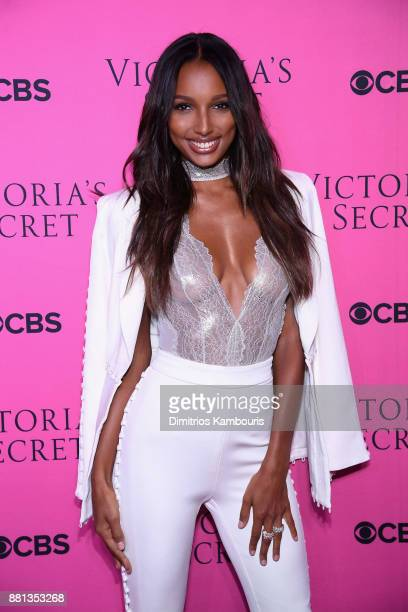 Victoria's Secret Angel Jasmine Tookes attends as Victoria's Secret Angels gather for an intimate viewing party of the 2017 Victoria's Secret Fashion...