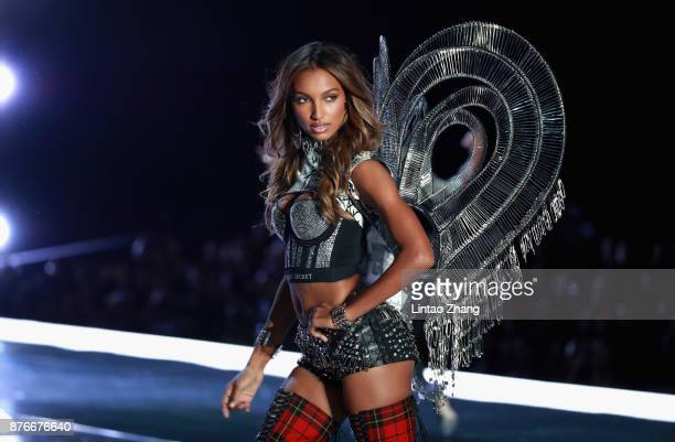 Victoria's Secret Angel Jasmine Tookes walks the runway for Swarovski Sparkles In the 2017 Victoria's Secret Fashion Show at MercedesBenz Arena on...