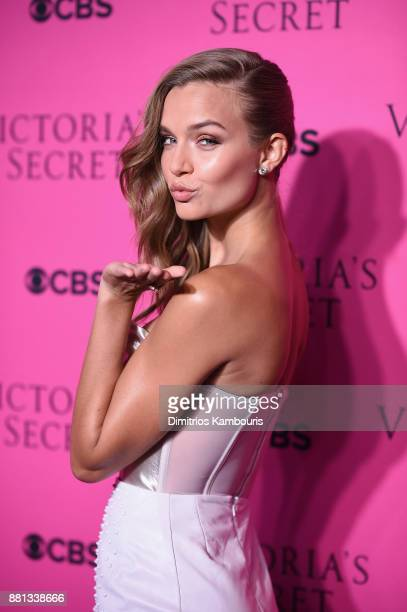 Victoria's Secret Angel Josephine Skriver attends as Victoria's Secret Angels gather for an intimate viewing party of the 2017 Victoria's Secret...