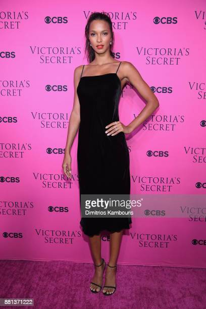 Victoria's Secret Angel Lais Ribeiro attends as Victoria's Secret Angels gather for an intimate viewing party of the 2017 Victoria's Secret Fashion...