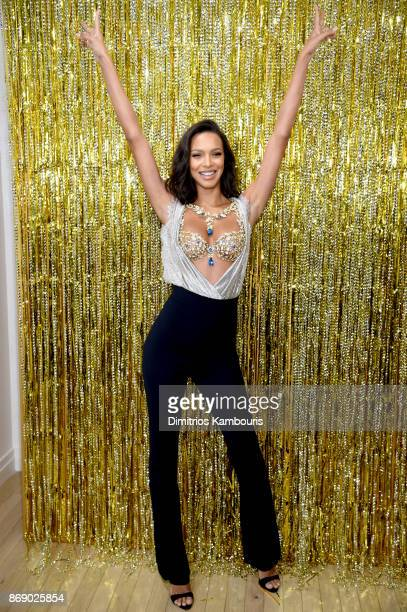 Victoria's Secret Angel Lais Ribeiro reveals the $2 Million 2017 Champagne Nights Fantasy Bra on November 1 2017 in New York City