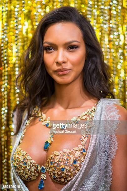 Victoria's Secret Angel Lais Ribeiro reveals the 2017 Champagne Nights Fantasy Bra and new fragrane Bombshell Nights at Victoria's Secret Fifth Ave...