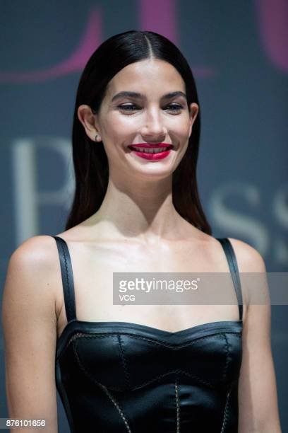 Victoria's Secret Angel Lily Aldridge attends MercedesBenz 'Backstage Secrets' By Russell James Book Launch Shanghai Exhibition opening party at...
