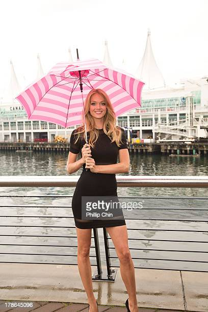 Victoria's Secret Angel Lindsay Ellingson attends the Victoria's Secret Store Grand Opening on Robson Street in Vancouver on August 29 2013 in...