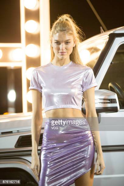 Victoria's Secret Angel Martha Hunt arrives at the red carpet of the MercedesBenz 'Backstage Secrets' By Russell James Book Launch Shanghai...