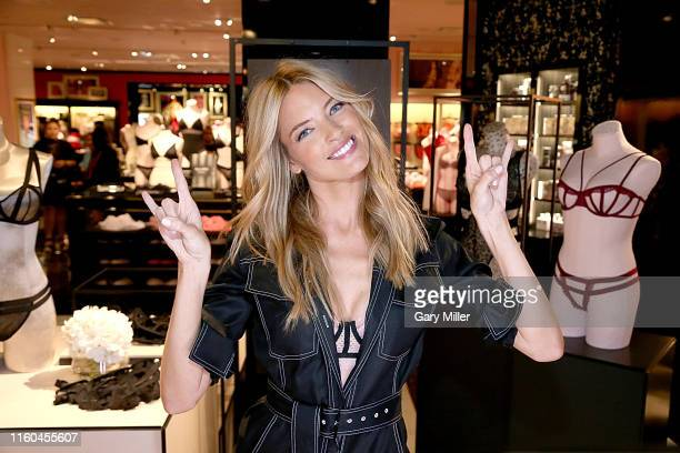 Victoria's Secret Angel Martha Hunt debuts the new fall collection at Victoria's Secret Houston Galleria Store on August 8 2019 in Houston Texas
