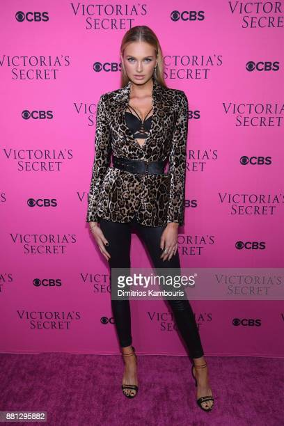 Victoria's Secret Angel Romee Strijd attends as Victoria's Secret Angels gather for an intimate viewing party of the 2017 Victoria's Secret Fashion...