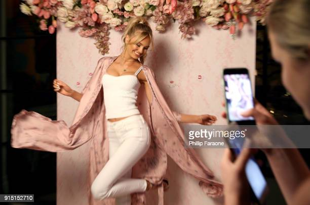 Victoria's Secret Angel Romee Strijd attends Victoria's Secret Ultimate Girls Night In with Angels Josephine Skriver and Romee Strijd at Peninsula...