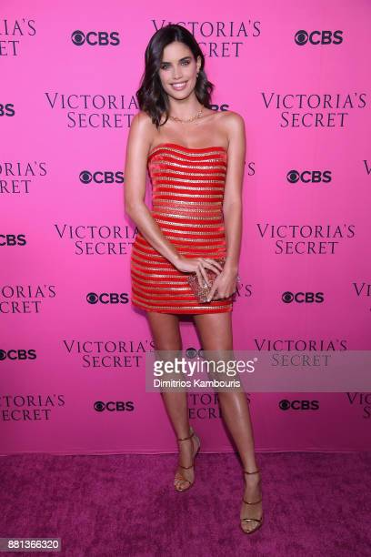 Victoria's Secret Angel Sara Sampaio attends as Victoria's Secret Angels gather for an intimate viewing party of the 2017 Victoria's Secret Fashion...