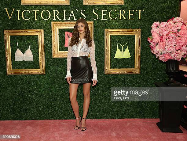Victoria's Secret Angel Taylor Hill hosts global media live stream to reveal Bralette Collection launch multicity tour at Victoria's Secret Herald...