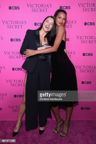 Victoria's Secret Angels Adriana Lima and Lais Ribeiro attend as Victoria's Secret Angels gather for an intimate viewing party of the 2017 Victoria's...