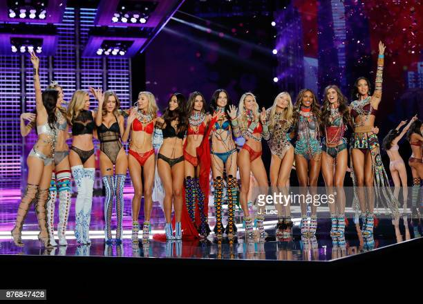 Victoria's Secret Angels at the 2017 Victoria's Secret show on November 20, 2017 in Shanghai, China.