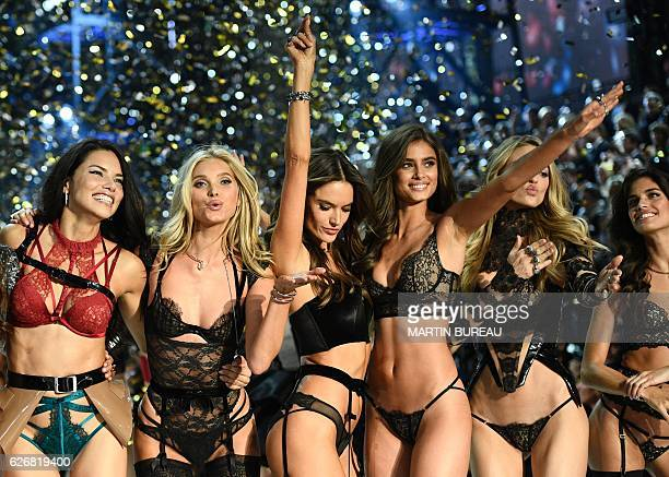 TOPSHOT CORRECTION Victoria's Secret Angels Brazilian model Adriana Lima Swedish model Elsa Hosk Brazilian model Alessandra Ambrosio US model Taylor...