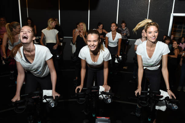 NY: Victoria's Secret Angel Cycle To End Cancer Hosted By Angels Martha Hunt, Josephine Skriver, Alexina Graham, Chey Carty, Gizele Oliveira, Josie Conseco, Lorena Duran And Sofie Rovenstine At Flywhee