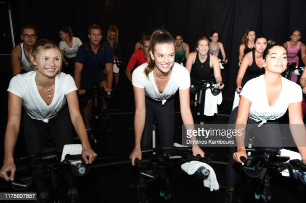 Victoria's Secret Angels cycle to end cancer hosted by Angels Martha Hunt Josephine Skriver Alexina Graham Chey Carty Gizele Oliveira Josie Conseco...