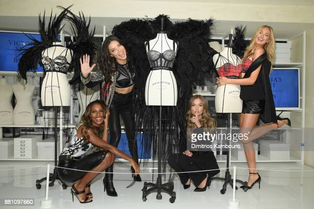 Victoria's Secret Angels Jasmine Tookes Adriana Lima Josephine Skriver and Romee Strijd share their favorite VS x BALMAIN looks from the runway and...