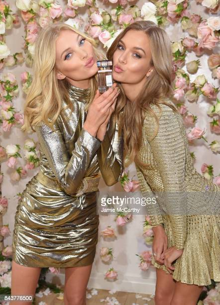 Victoria's Secret Angels Josephine Skriver and Elsa Hosk celebrate the allnew LOVE fragrance on September 7 2017 in New York City