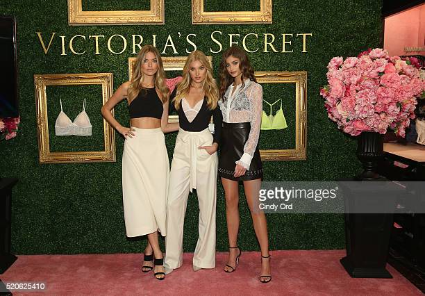 Victoria's Secret Angels Martha Hunt Elsa Hosk and Taylor Hill host global media live stream to reveal Bralette Collection launch multicity tour at...