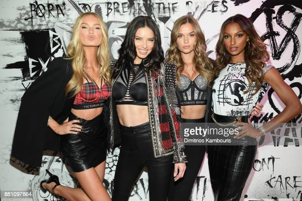 Victoria's Secret Angels Romee Strijd Adriana Lima Josephine Skriver and Jasmine Tookes share their favorite VS x BALMAIN looks from the runway and...