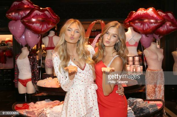 Victoria's Secret Angels Romee Strijd and Josephine Skriver Make This Valentine's Day Me Day on February 6 2018 in Santa Monica California