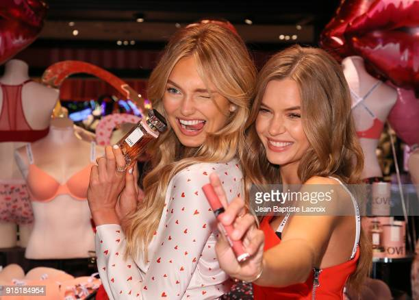 Victoria's Secret Angels Romee Strijd and Josephine Skriver share the new Dream Angels and Very Sexy collections at Victoria's Secret on February 6...