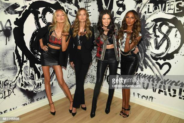 Victoria's Secret Angels Romee Strijd Josephine Skriver Adriana Lima and Jasmine Tookes share their favorite VS x BALMAIN looks from the runway and...