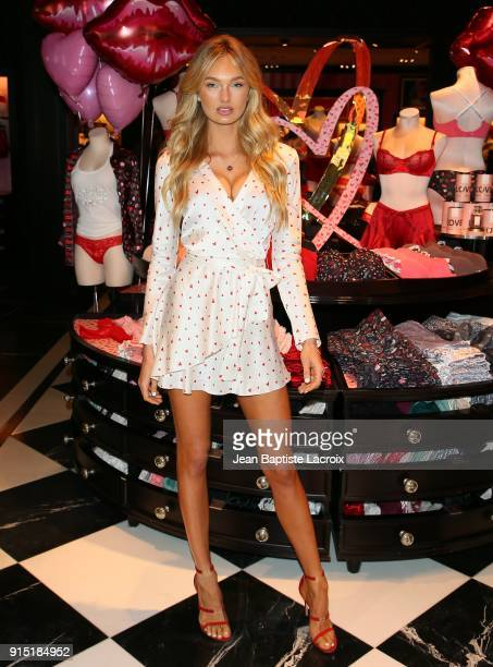 Victoria's Secret Angels Romee Strijd shares the new Dream Angels and Very Sexy collections at Victoria's Secret on February 6 2018 in Santa Monica...