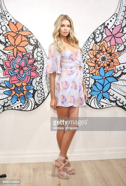 Victoria's Secret Angels Stella Maxwell And Romee Strijd Launch The New Dream Angels Collection at Victoria's Secret Fifth Ave on February 28 2017 in...