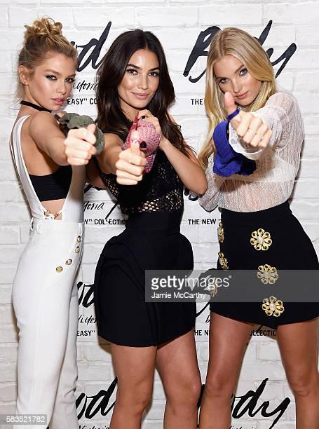 Victoria's Secret Angels Stella Maxwell Lily Aldridge and Elsa Hosk launch the allnew Easy Collection from Body By Victoria at Victoria's Secret SoHo...