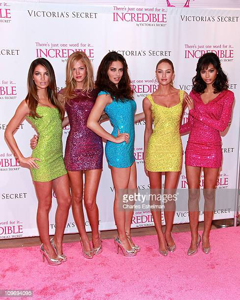 Victoria's Secret Angles Lily Aldridge Erin Heatherton Adriana Lima Candice Swanepoel and Chanel Iman announce the New 'Incredible by Victoria's...