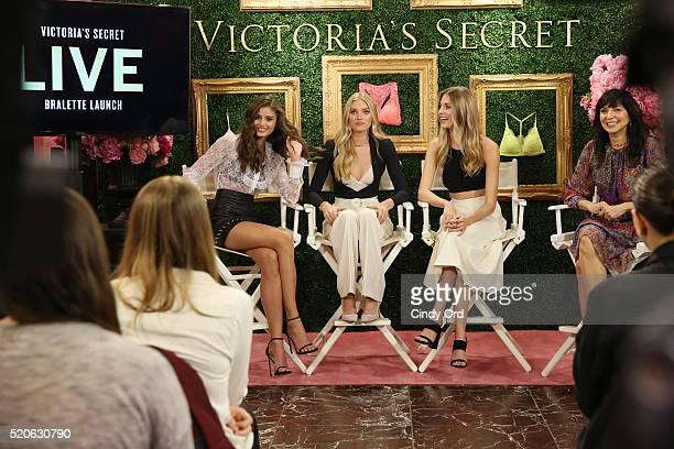 Victoria's Secret EVP Brand Communications Events Monica Mitro moderates Victoria's Secret Angels Taylor Hill Elsa Hosk and Martha Hunt to host...