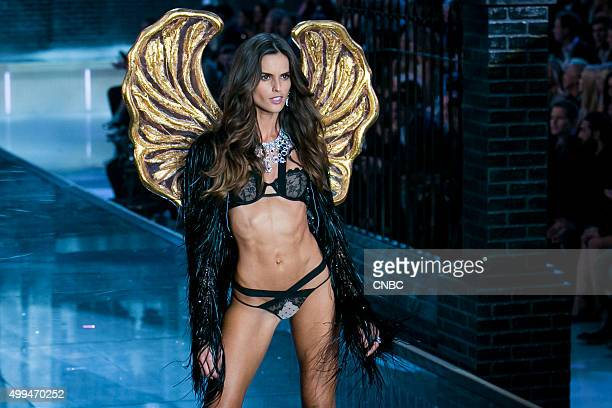 Victoria's Secret Fashion Show Pictured Model Izabel Goulart walks the runway during the 2015 Victoria's Secret Fashion Show in New York City on...