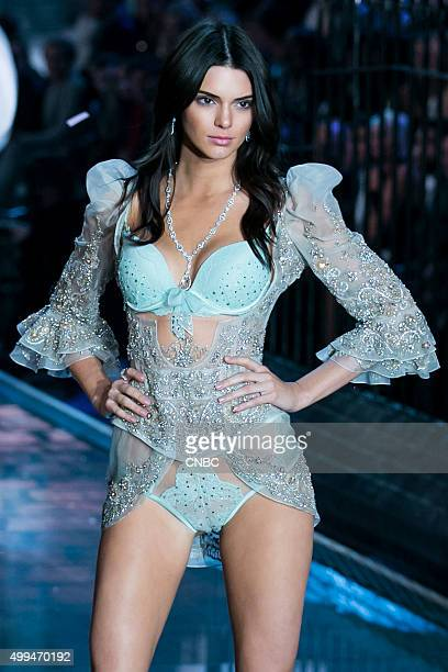 Victoria's Secret Fashion Show Pictured Model Kendall Jenner walks the runway during the 2015 Victoria's Secret Fashion Show in New York City on...