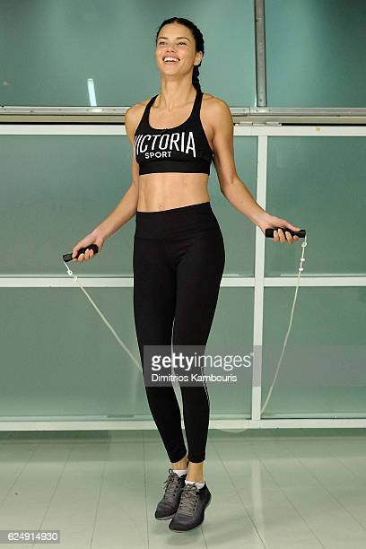 Victoria's Secret hosts Train Like An Angel with Adriana Lima at Aerospace High Performance Center on November 21 2016 in New York City