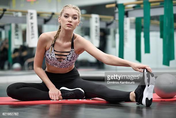 Victoria's Secret hosts Train Like An Angel with Elsa Hosk at Flex Noho on November 9 2016 in New York City