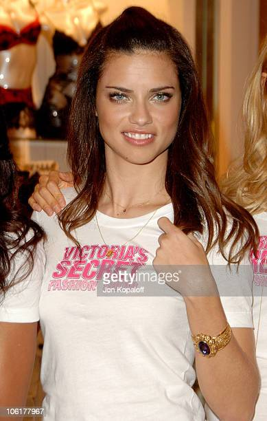 Victoria's Secret model Adriana Lima poses at the Victoria's Secret Angels Share Their Favorite Holiday Gift Picks at the Victoria Secret store...