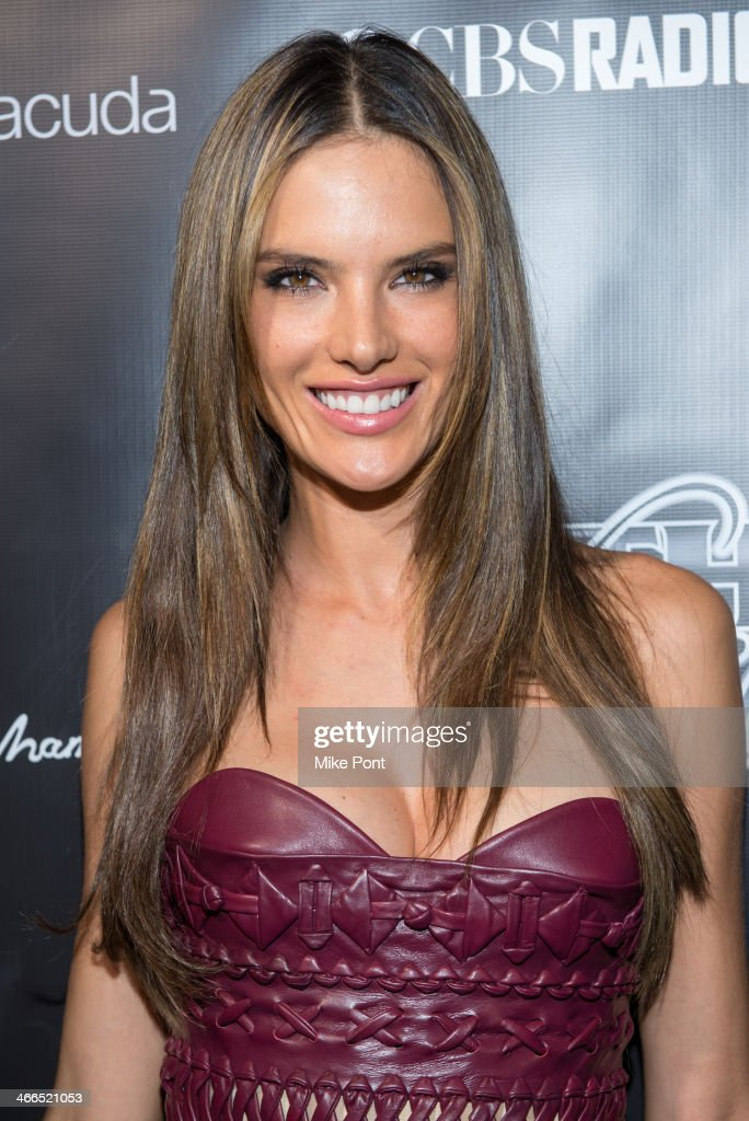 Victoria's Secret Model Alessandra Ambrosio attends the 11th Annual 'Leather & Laces' Party at The Liberty Theatre on February 1, 2014 in New York City.