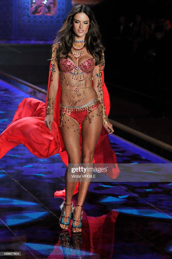 Victoria's Secret model Alessandra Ambrosio walks the runway during the 2014 Victoria's Secret Fashion Show at Earl's Court exhibition centre on December 2, 2014 in London, England.