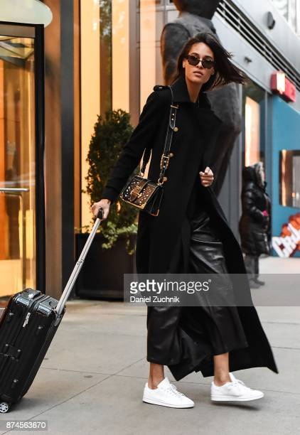 Victoria's Secret model Cindy Bruna leaves for Shanghai to walk the 2017 Victoria's Secret Runway on November 14 2017 in New York City