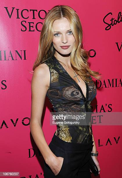 Victoria's Secret model Edita Vilkeviciute attends the after party following the 2010 Victoria's Secret Fashion Show at Lavo on November 10 2010 in...