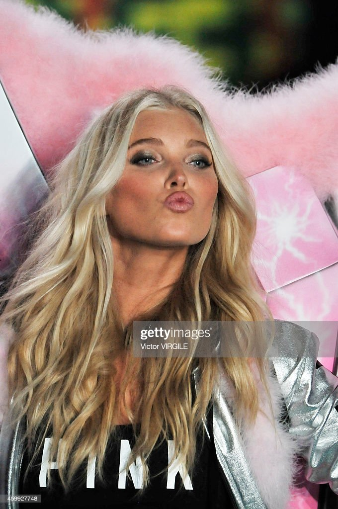 Victoria's Secret model Elsa Hosk walks the runway during the 2014 Victoria's Secret Fashion Show at Earl's Court exhibition centre on December 2, 2014 in London, England.