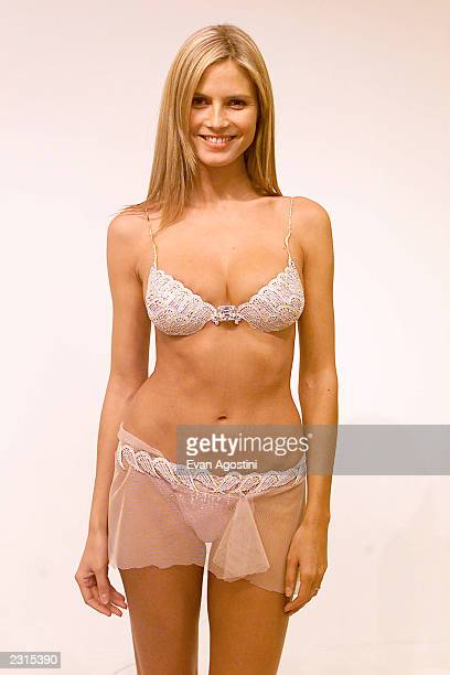 Victoria's Secret model fittings in preparations for the Victoria's Secret 2001 Fashion Show Pictured Model Heidi Klum wearing the $125 million...