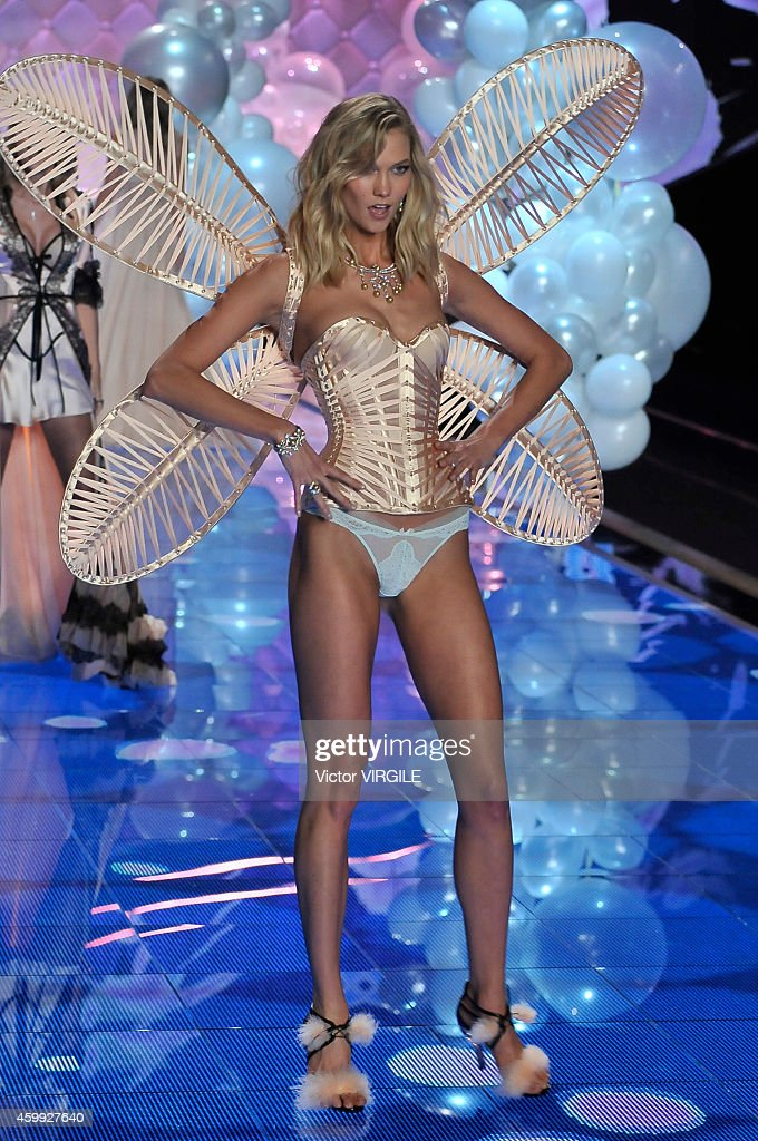 Victoria's Secret model Karlie Kloss walks the runway during the 2014 Victoria's Secret Fashion Show at Earl's Court exhibition centre on December 2, 2014 in London, England.