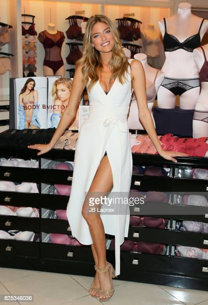 Victoria's Secret model Martha Hunt introduces 'New Body' by Victoria Collection on August 01 in Los Angeles California